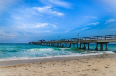 Pompano Beach Pier on the Atlantic Ocean; Pompano Beach, FL