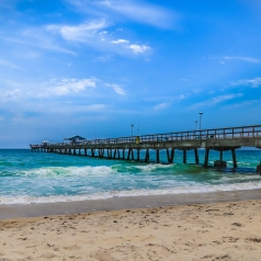 Pompano Beach Pier on the Atlantic Ocean; Pompano Beach, FL